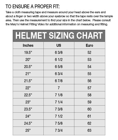 Gpa Helmet Size Chart   Helmets