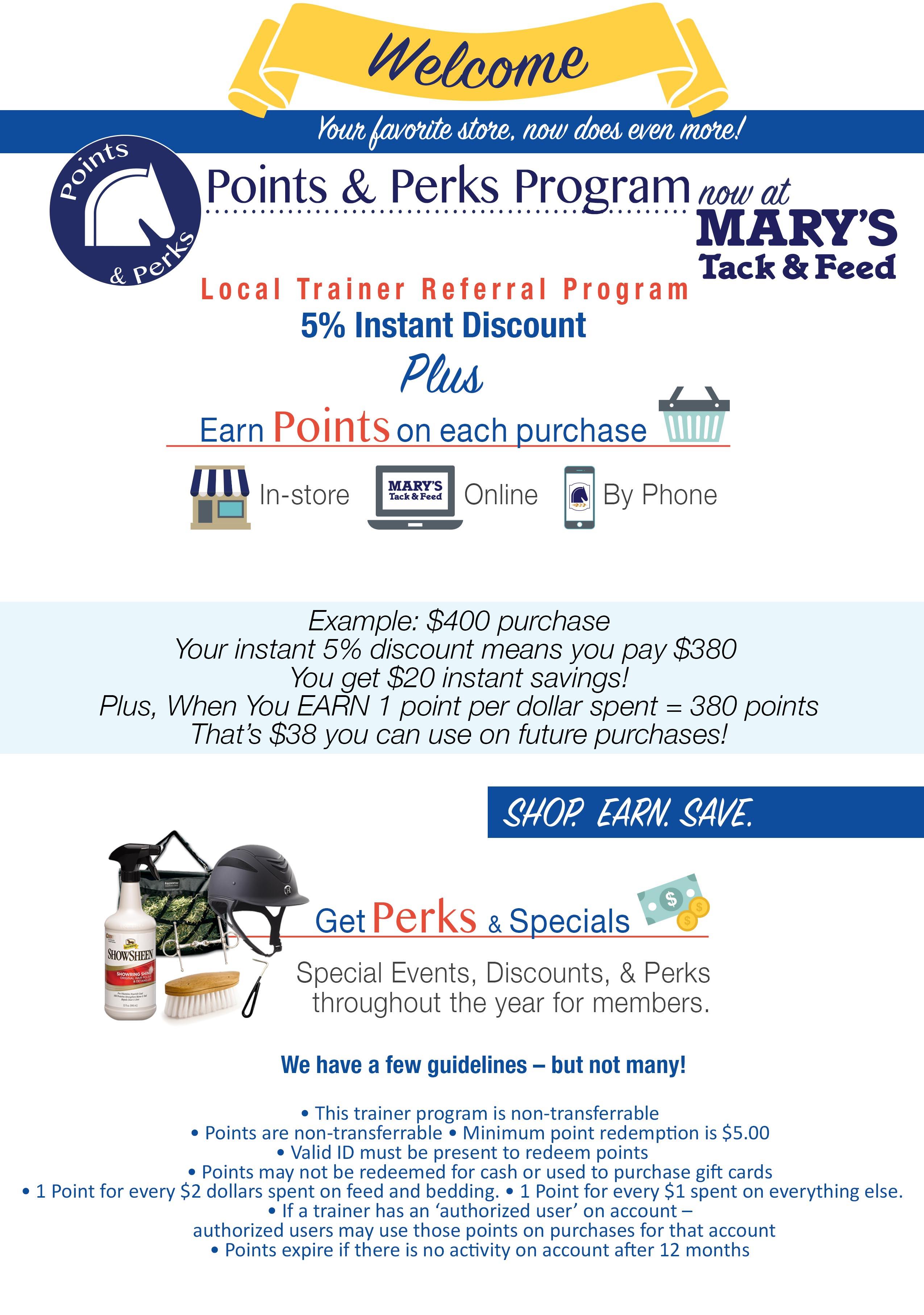 Trainer Points & Perks Program
